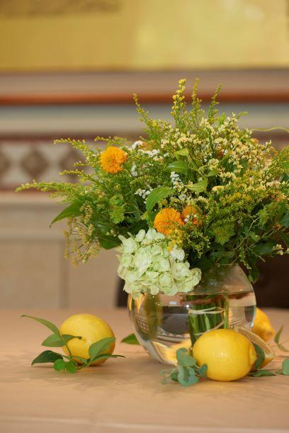 ウェディング テーブル装花